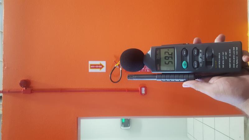 Instalação de sistema de alarme de incendio